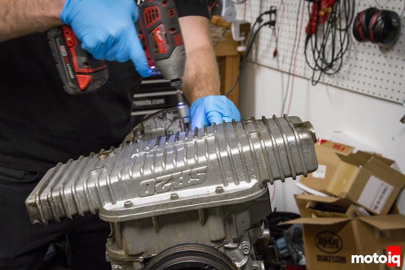 Removing SR20 lower oil pan