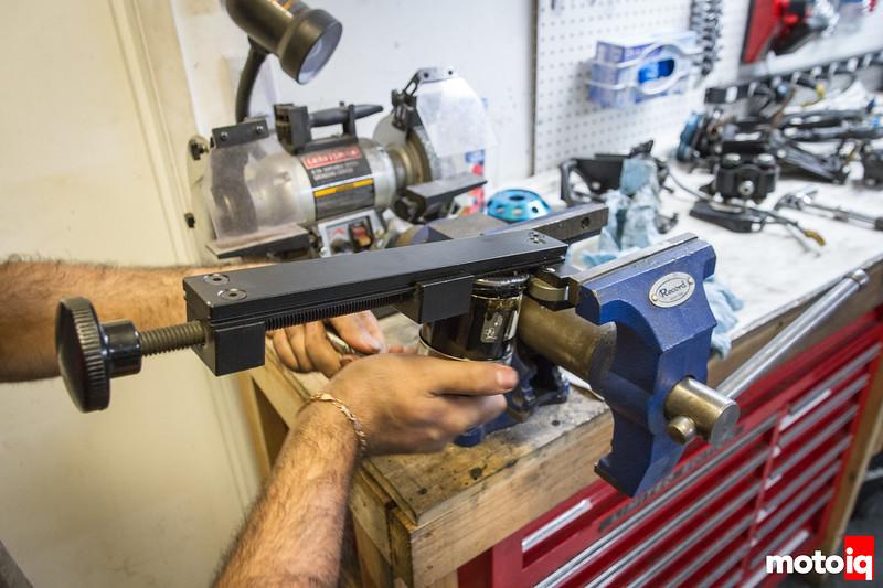 Cutting open an oil filter