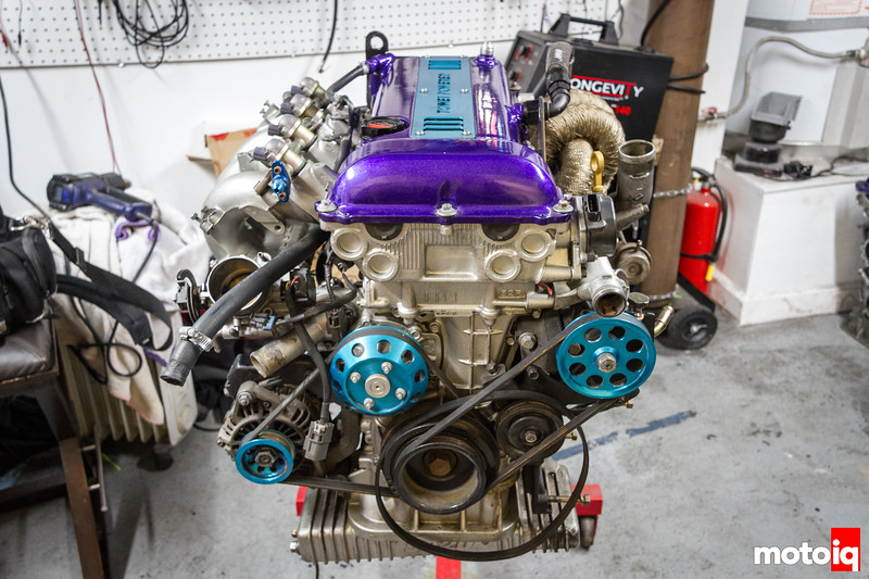 SR20 on engine stand
