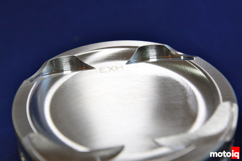 JE asymmetrical pistons for Supra Turbo 2JZ-GTE valve reliefs smooth crowns