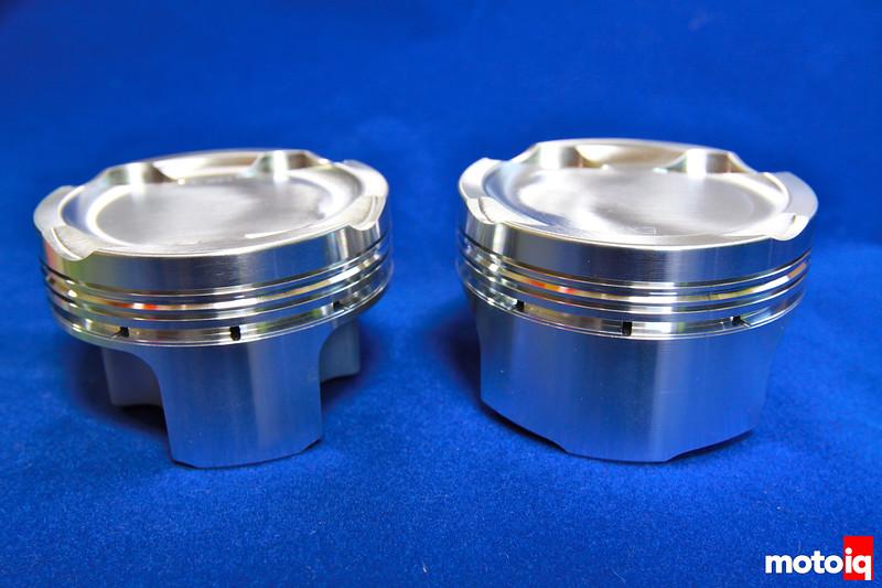 JE Pistons 2JZ-GTE Supra turbo asymmetrical pistons