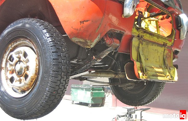 Angry hamster rear suspension
