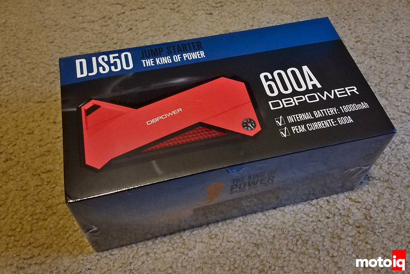 DBPOWER 600A 18000mAh Portable Car Jump Starter in sealed box