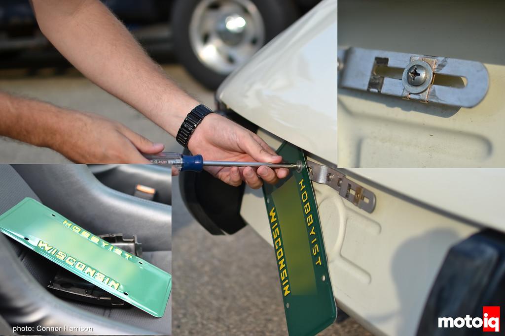 CHD Connor Harrison Detailing plate Removal car wash basics