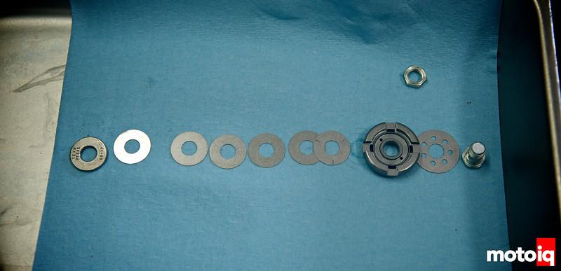 Base valve disassembled