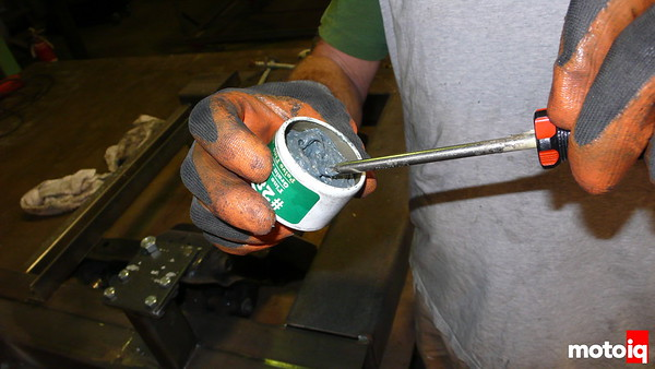 Valve Lapping Compound on your screwdriver wrench tip