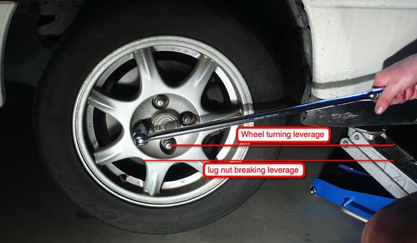 wrench tips break lug nuts right way