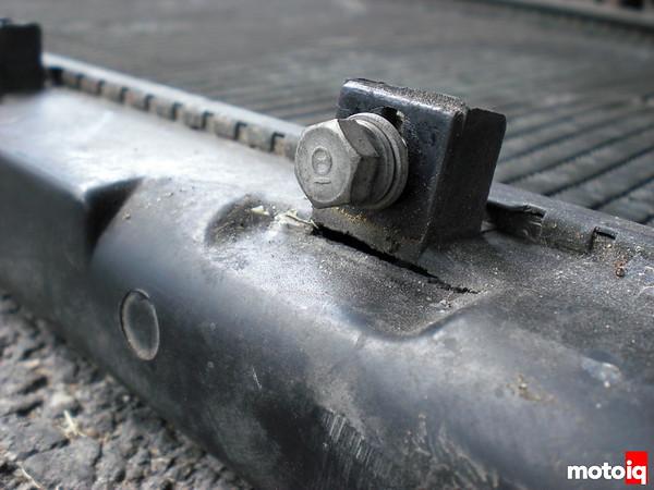 wrench tips welding plastic cracked radiator