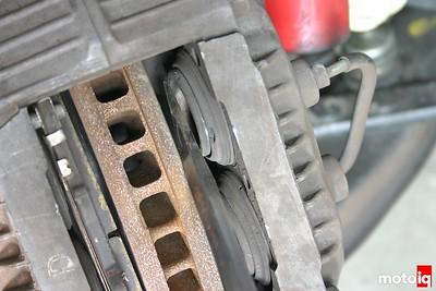 wrench tips changing brake pads