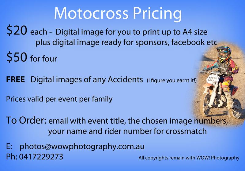 Pricing motocross