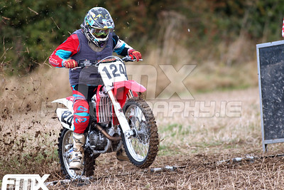 Richard 'Richy Moto' Fanning off the start gate.