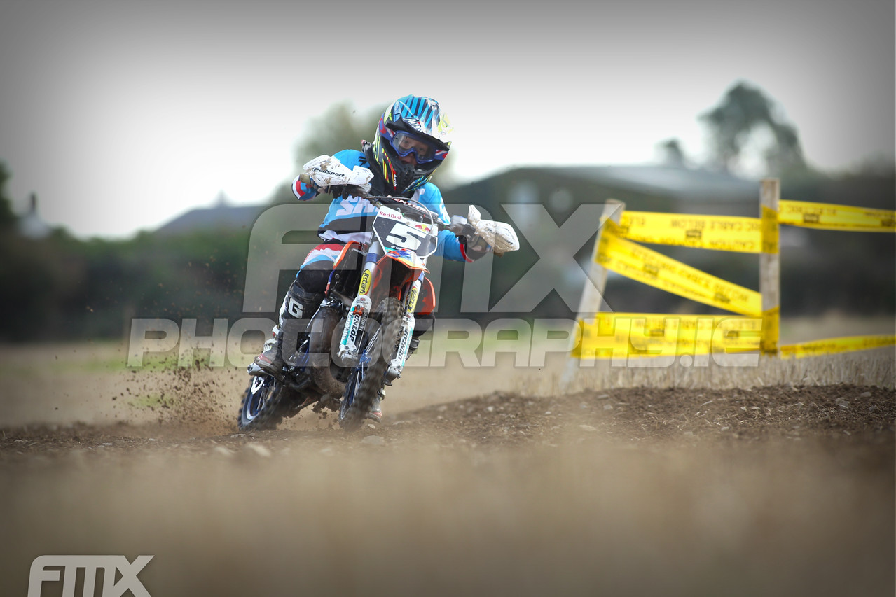 Ben McConville was running away with the first 65cc race...