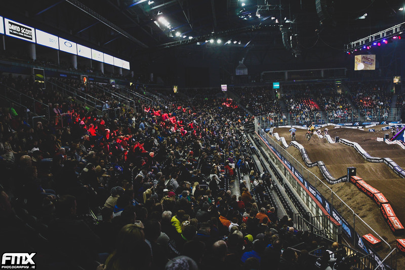 Huge crowds watch local riders Graeme Irwin & Martin Barr battle it out.