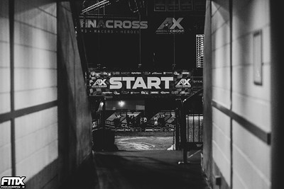 The start gate for the 2nd round of the ArenaCross Tour - Belfast