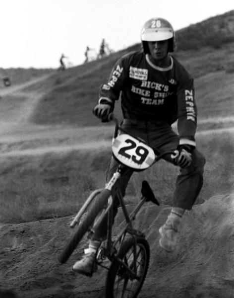 John Palfreyman Jr. racing at Corona BMX track.