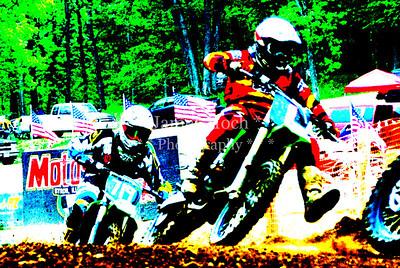 Motocross Racing at Byron, Illinois - May 6, 2012
