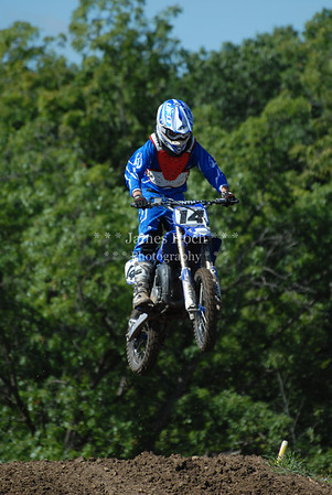 Motocross Racing in Byron, Illinois - August 5, 2012 - Rider # 14