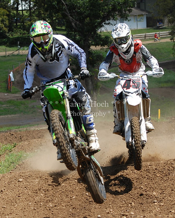 Motocross Racing in Byron, Illinois - August 5, 2012 - Rider # 15