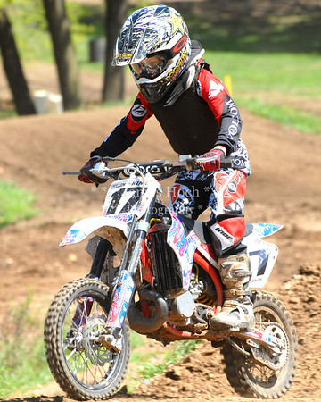 Motocross Racing in Byron, Illinois - August 5, 2012 - Rider # 17