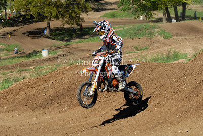 Motocross Racing in Byron, Illinois - August 5, 2012 - Rider # 13