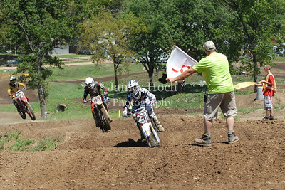 Motocross Racing in Byron, Illinois - August 5, 2012 - Track Shot