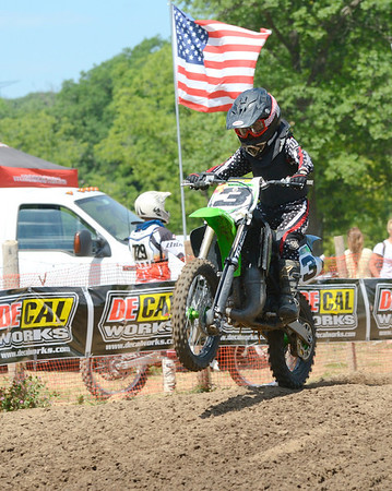 Motocross Racing in Byron, Illinois - June 3, 2012 - Rider # 003
