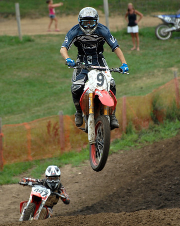 Motocross Racing in Byron, Illinois - July 22, 2012 - Rider # 009