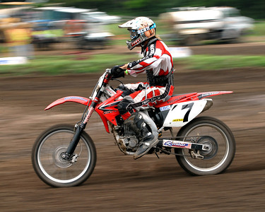 Motocross Racing in Byron, Illinois - July 22, 2012 - Rider # 007