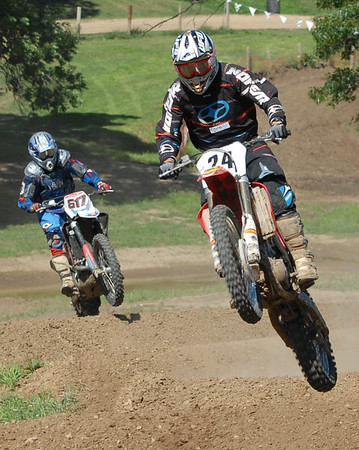 Motocross Racing in Byron, Illinois - August 5, 2012 - Rider # 24