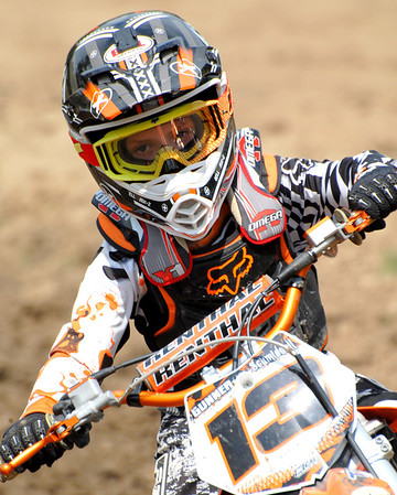 Motocross Racing in Byron, Illinois - July 22, 2012 - Rider # 013