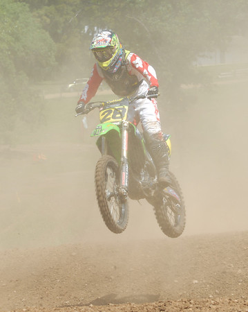 Motocross Racing in Byron, Illinois - August 5, 2012 - Rider # 28