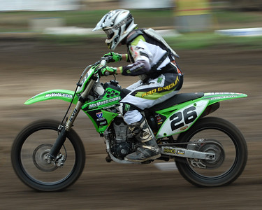 Motocross Racing in Byron, Illinois - July 22, 2012 - Rider # 026