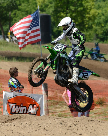 Motocross Racing in Byron, Illinois - June 3, 2012 - Rider # 012