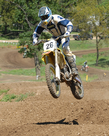 Motocross Racing in Byron, Illinois - August 5, 2012 - Rider # 26