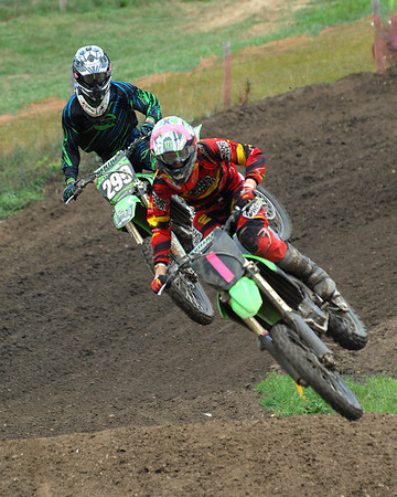 Motocross Racing in Byron, Illinois - July 22, 2012 - Rider # 001