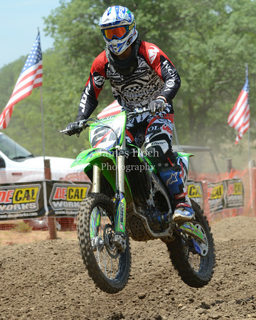Motocross Racing in Byron, Illinois - June 3, 2012 - Rider # 021
