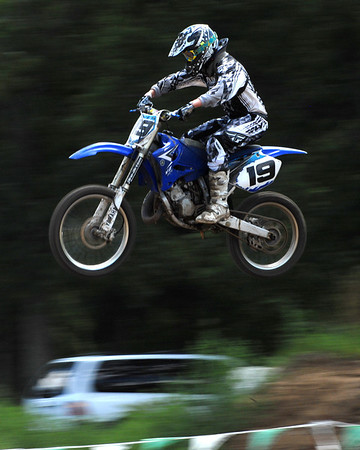 Motocross Racing in Byron, Illinois - August 5, 2012 - Rider # 19