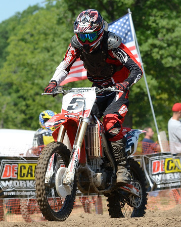 Motocross Racing in Byron, Illinois - June 3, 2012 - Rider # 005