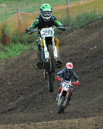 Motocross Racing in Byron, Illinois - July 22, 2012 - Rider # 020