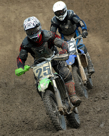 Motocross Racing in Byron, Illinois - July 22, 2012 - Rider # 025