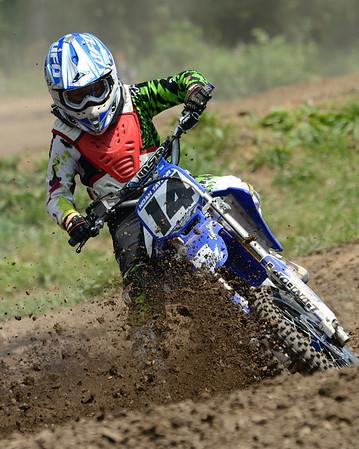 Motocross Racing in Byron, Illinois - June 3, 2012 - Rider # 014