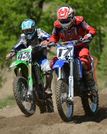 Motocross Racing in Byron, Illinois - June 3, 2012 - Rider # 017