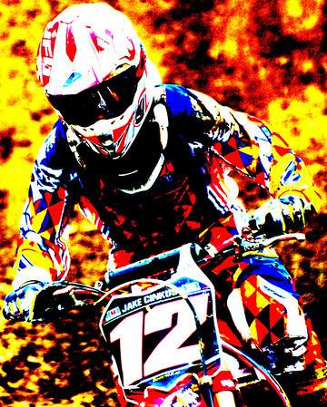 Motocross Racing in Byron, Illinois - July 22, 2012 - Rider # 012