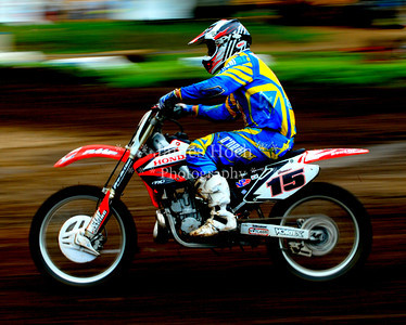 Motocross Racing in Byron, Illinois - July 22, 2012 - Rider # 015