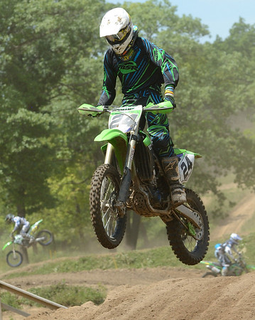 Motocross Racing in Byron, Illinois - June 3, 2012 - Rider # 024
