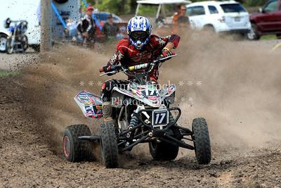 Racing at Wilmington, Illinois - Joliet Motosports - September 9, 2012 - Rider # Quad 017