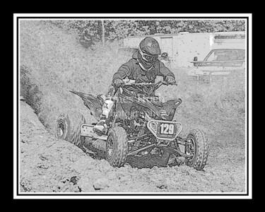 Racing at Wilmington, Illinois - Joliet Motosports - September 9, 2012 - Rider # Quad 129