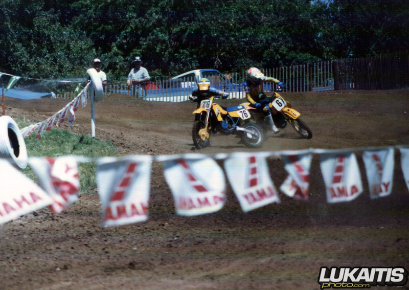 Buddy Antunez #76 and Jimmy Gaddis #6-<br /> NEMA Ponca City August 1987