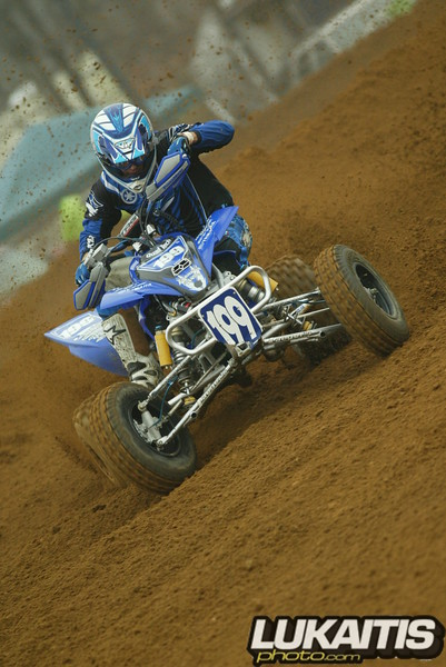One more quad shot. Pat Brown sliding sideways and on the gas.