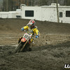 Ty Wallace all alone and out front in the mud. This was the only way to keep clean this season at Raceway Park.